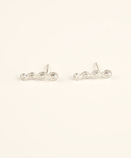 Pema 4 Spheres Earrings - Silver