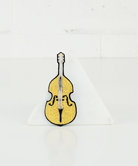 My Golden Cello Embroidered Pin