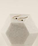 2MM Black Diamond Earrings