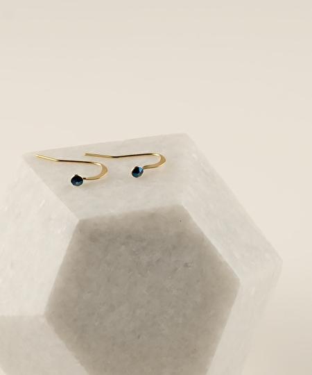 2MM Midnight Blue Earrings