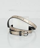 Ivy Leather Belt - Gold Metallic