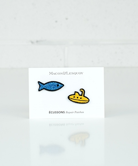Fish & Submarine Iron Patches