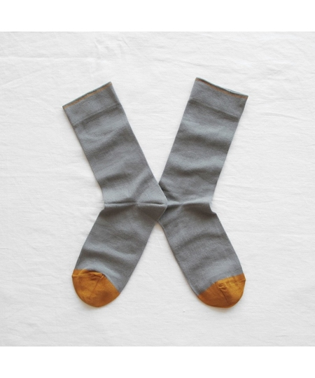 Plain Elephant Grey Socks