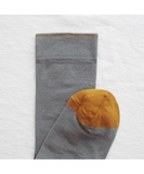 Plain Elephant Grey Socks