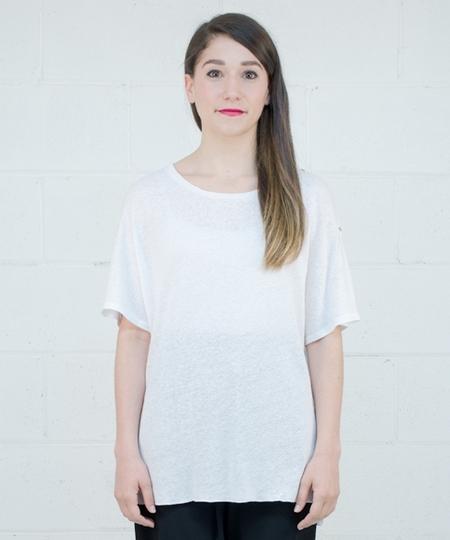 Sacha Linen Top - White