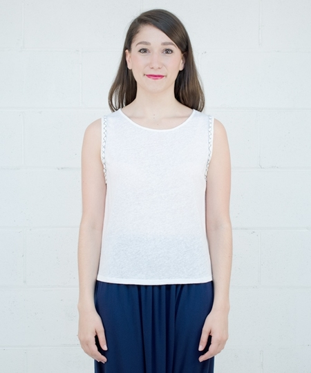 Rayan Linen Top - White