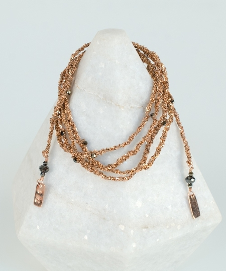 Luxury Gri Gri Bracelet / Necklace - Rose Gold / Beige