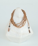 Luxury Gri Gri Bracelet / Necklace - Rose Gold / Beige