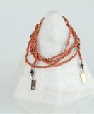 Luxury Gri Gri Bracelet / Necklace - Rose Gold / Corail