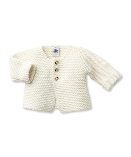 Lada Wool & Cotton Cardigan - Lait