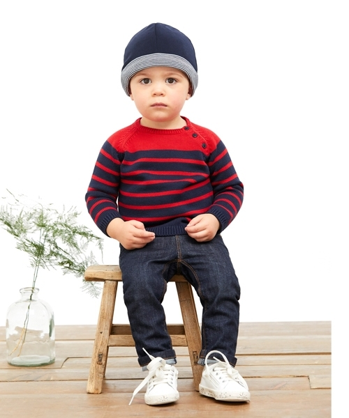 7915ac5a5b9 Petit Bateau - Little Ones little-ones - Lest Reversible Fleece Beanie