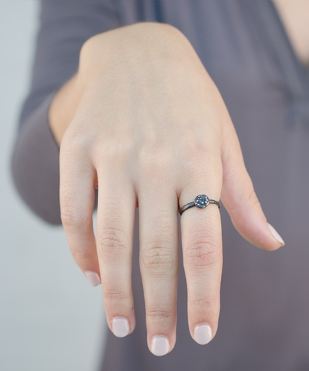 Blossom Gunmetal Ring