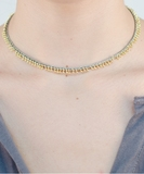 Pampille Bracelet or Necklace - Gold Celadon