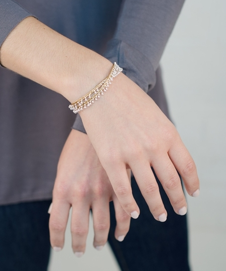 Lustre Bracelet or Necklace - Miel
