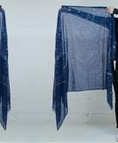Celeste Screen Print Scarf - Blue