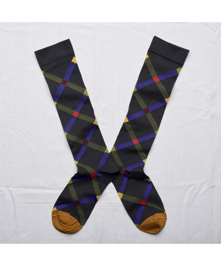 Dark Argyle Socks
