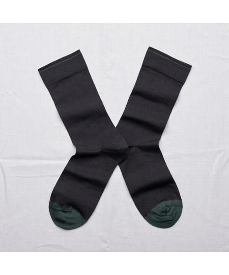 Dark Plain Socks
