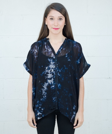 Gail Blouse - Midnight Dye