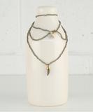 Tanka Pyrites Long Necklace