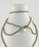 Tanka Pyrites Long Necklace
