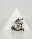 Flying Bat Embroidered Pin