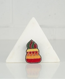 Coloured Cupcake Embroidered Pin