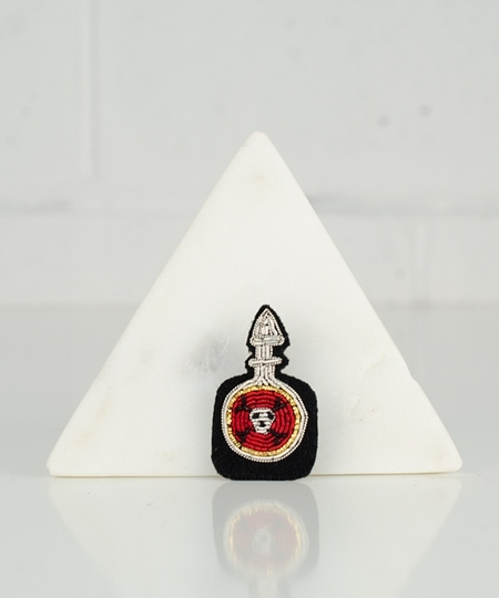 Poison Bottle Embroidered Pin