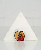 Golden Fox Embroidered Pin