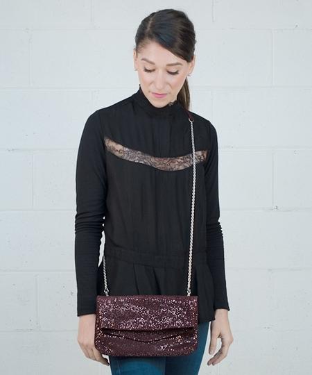 Fera Handbag - Dark Cabernet