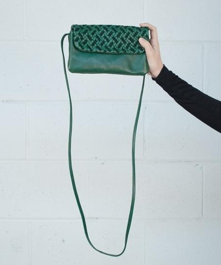 Lila Woven Purse - Green
