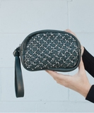 Maha Pouch or Clutch - Grey