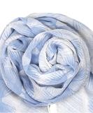Alum Cotton Scarf - Pale Iris