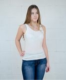 Charlotte Tank Top - White