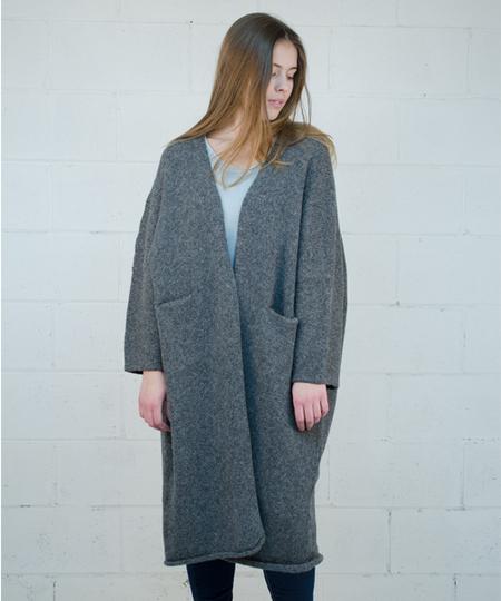Kimono Overcoat - Charcoal