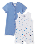 Mimi Pack of 2 Rompers - Blue