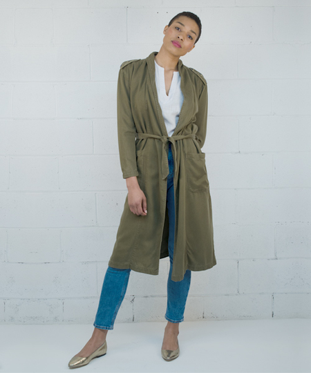 Pax Embroidered Coat - Army