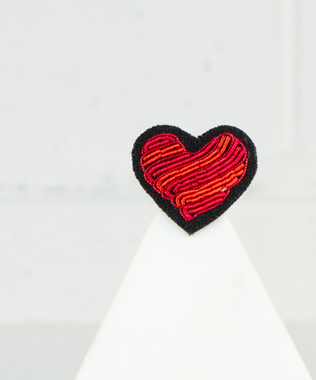 Arty Heart Embroidered Pin