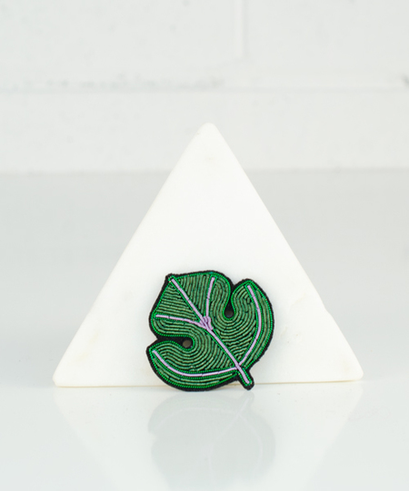 Fig Leaf Embroidered Pin
