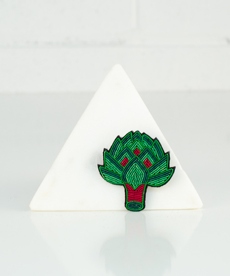 Artichoke Embroidered Pin
