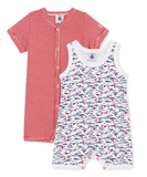Mimi Pack of 2 Rompers - Red