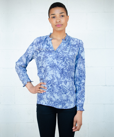 Glory Blouse - Cornflower