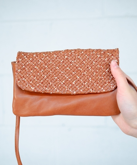 Lila Woven Purse - Brown