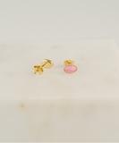 Cabochon Earrings - Rhodochrosite