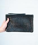 Leti Woven Wallet / Clutch - Black