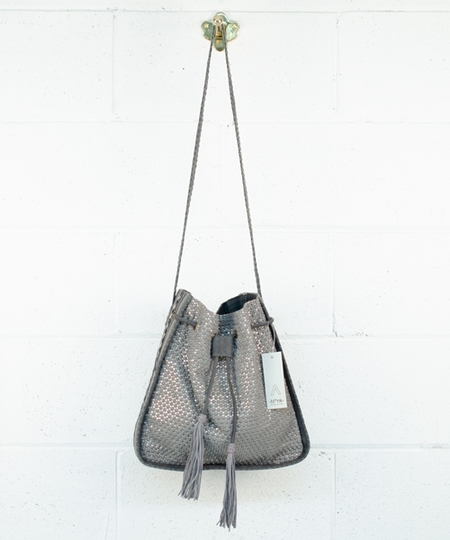 Marina Beads Handbag - Grey