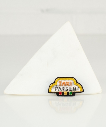 Parisian Cab Embroidered Pin
