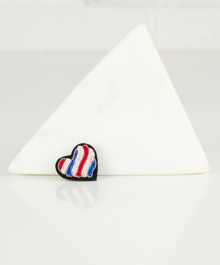 La France en coeur ! Embroidered Pin