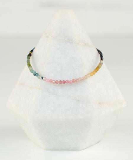 Rainbow Tourmaline & Spinel Bracelet