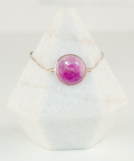 Deus Pink Sapphire Bracelet