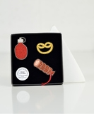 French Picnic Embroidered Pin